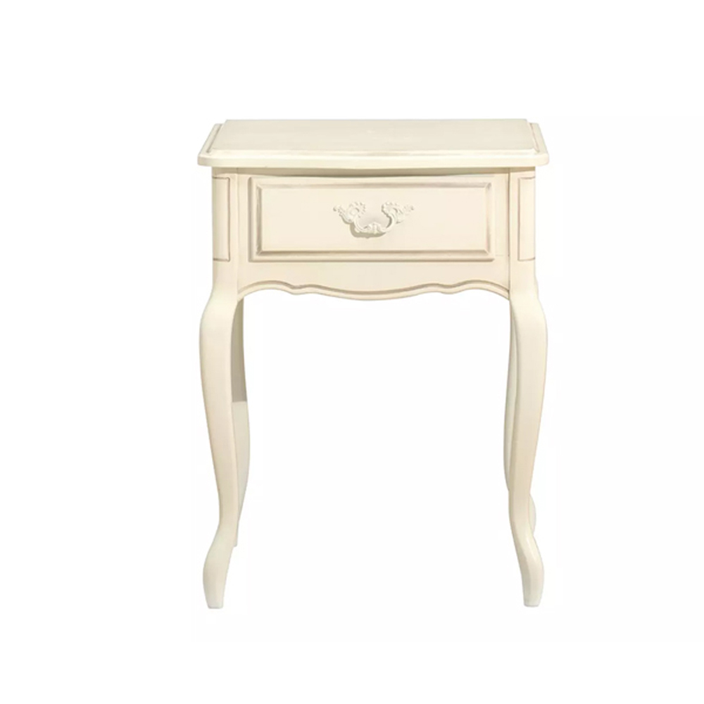 Provencale 1 Drawer Side Table  Ivory
