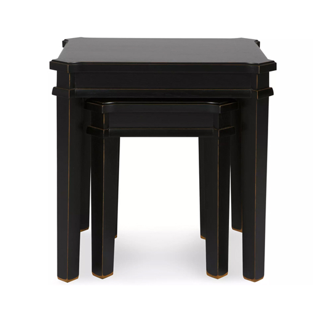 Henshaw Nest Of 2 Tables Black