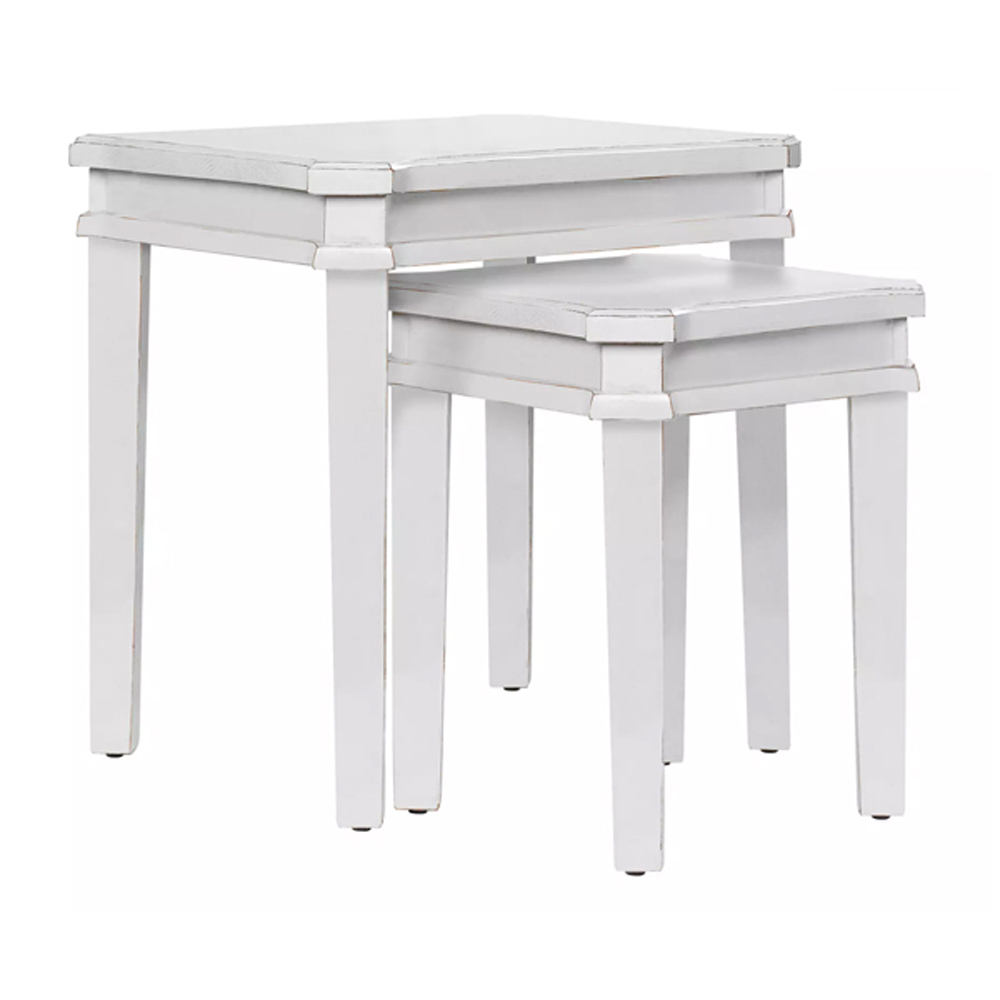 Henshaw Nest of 2 Tables Pale Steel
