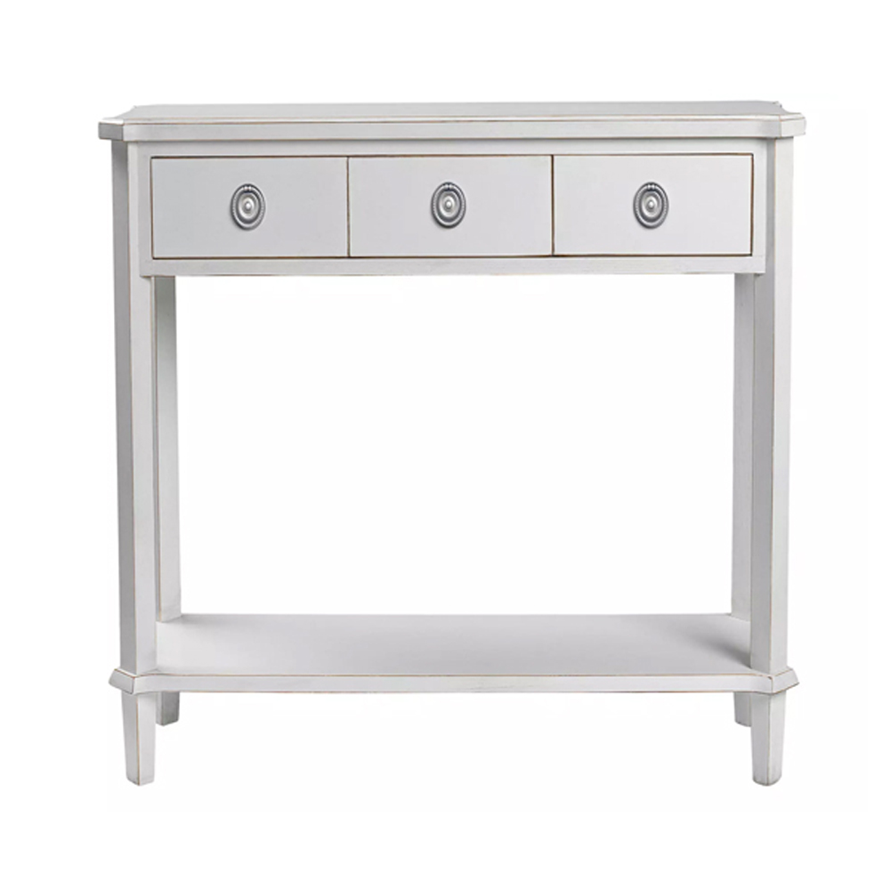 Henshaw 3 Drawer Console Table Pale Steel