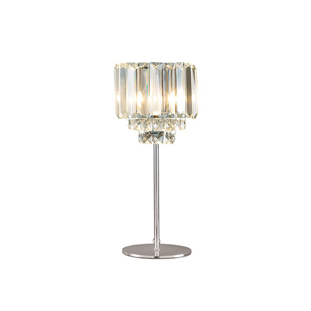 Vienna Complete Table Lamp Chrome with Crystal Glass Shade