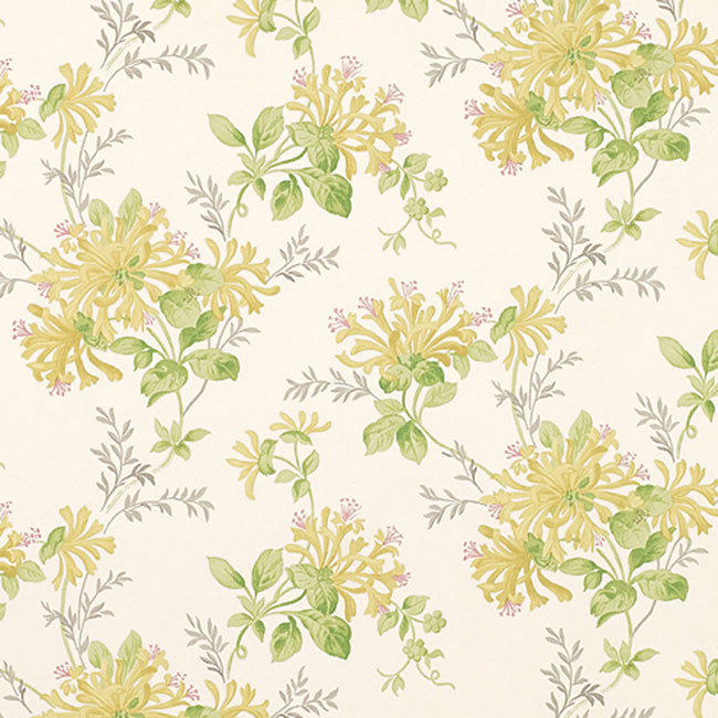 Honeysuckle Trail Floral Wallpaper Camomile Yellow
