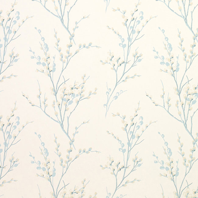 Pussy Willow Floral Wallpaper Off White/Duck Egg