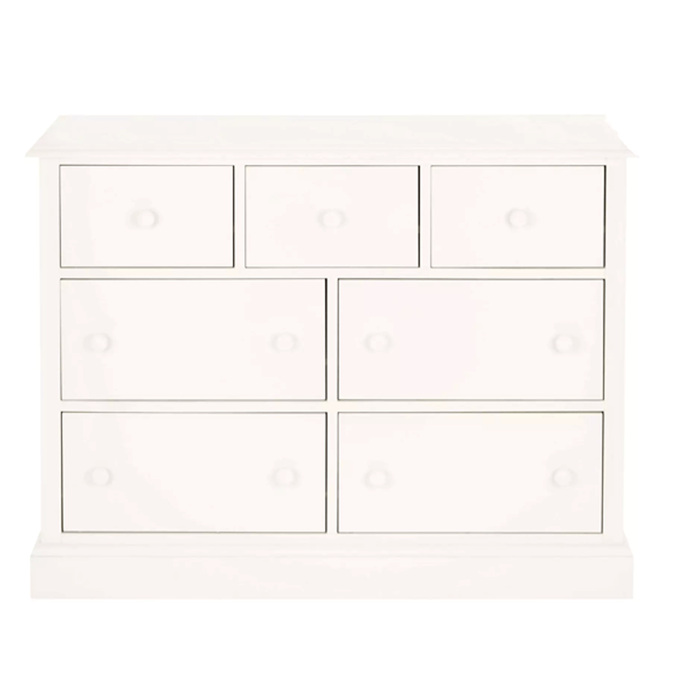 Ashwell Chest of 7 Drawers White