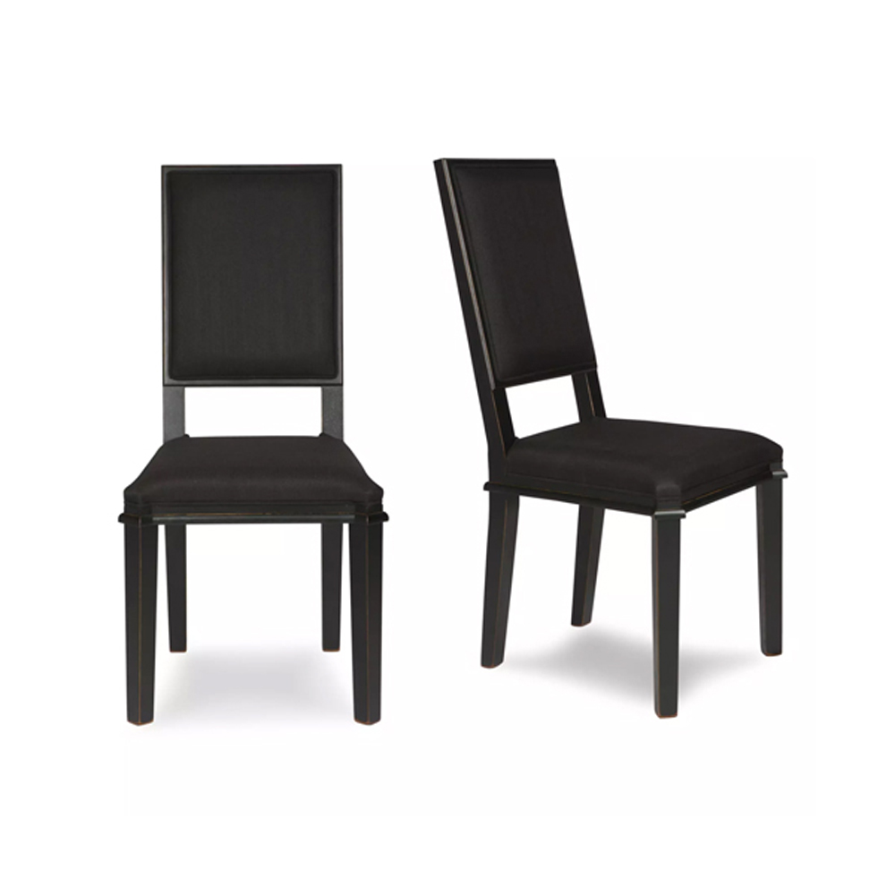 Henshaw Pair of Dining Chairs Black
