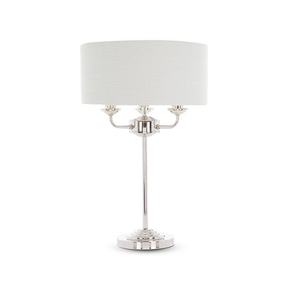 Sorrento Complete Lamp Chrome With Natural Shade
