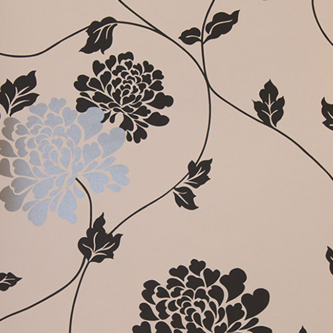 Isodore Floral Wallpaper WhitePearl