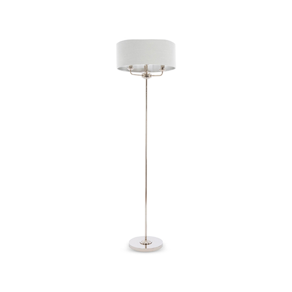 Sorrento Floor Lamp Chrome with Silver Shade