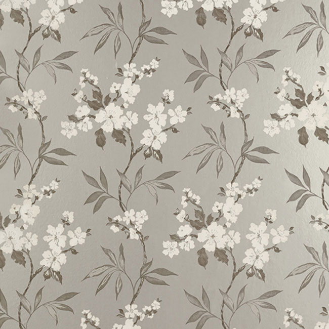 Calissa Floral Wallpaper Pewter