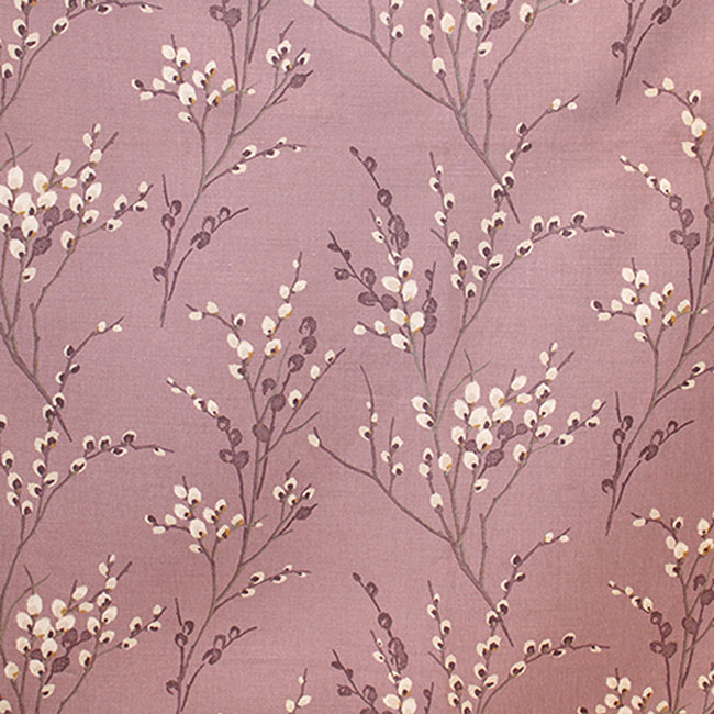 Pussy Willow Curtain Fabric Grape
