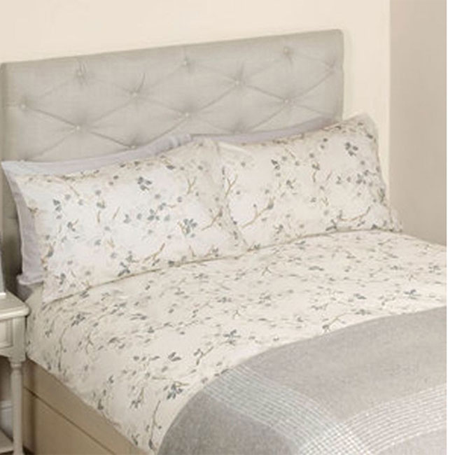 Iona Floral Bed Set Silver KNG 230x220