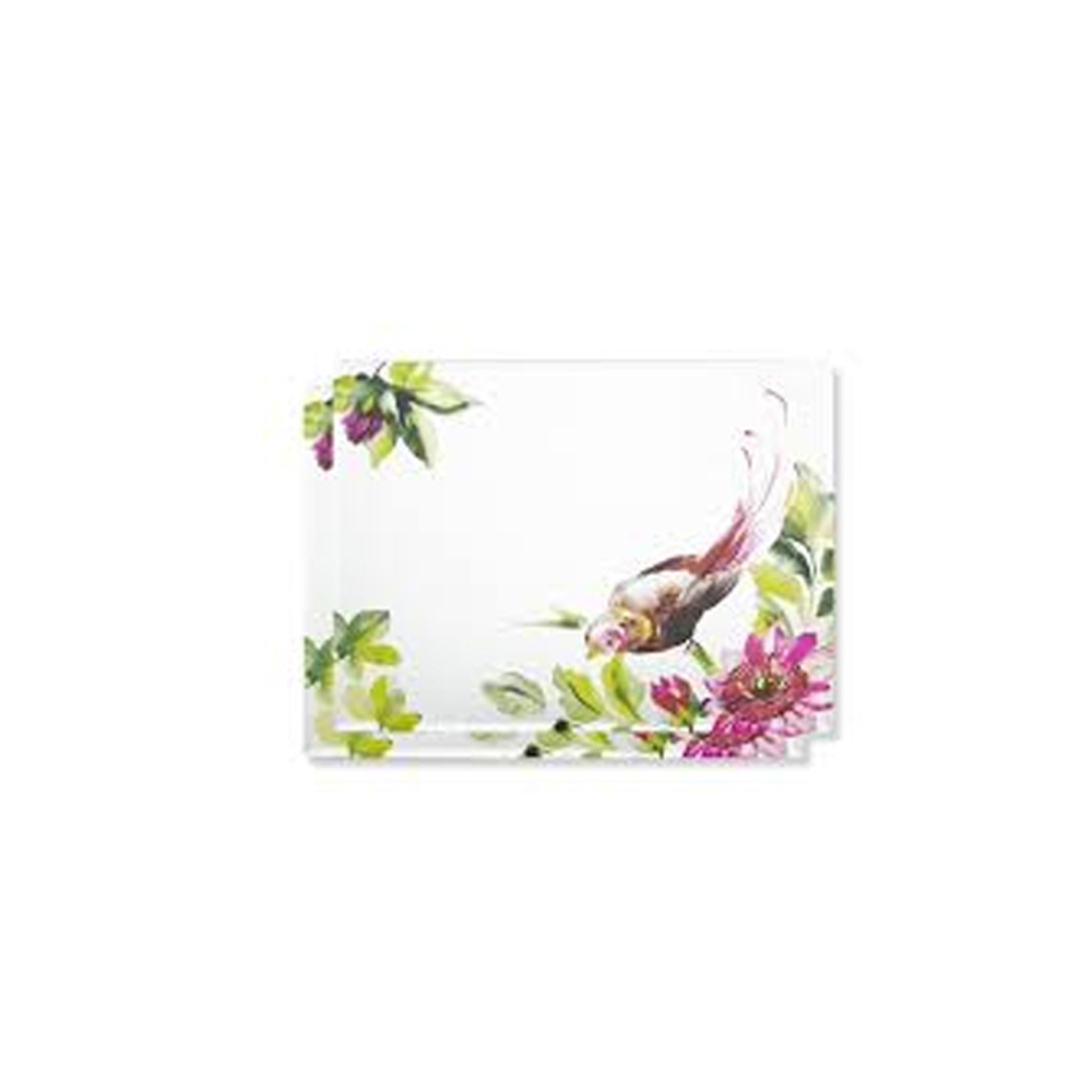 Floral Heritage Set of 2 Printed Mirror Placemats