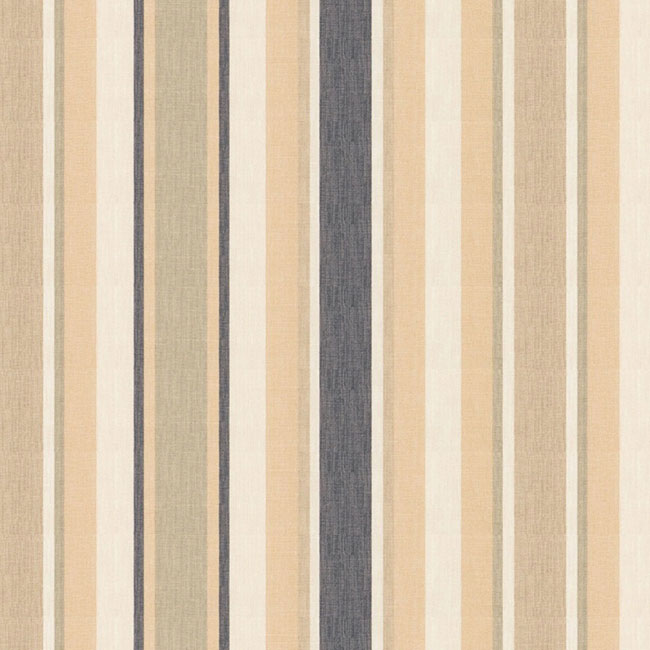 Awning Stripe Curtain Fabric Charcoal