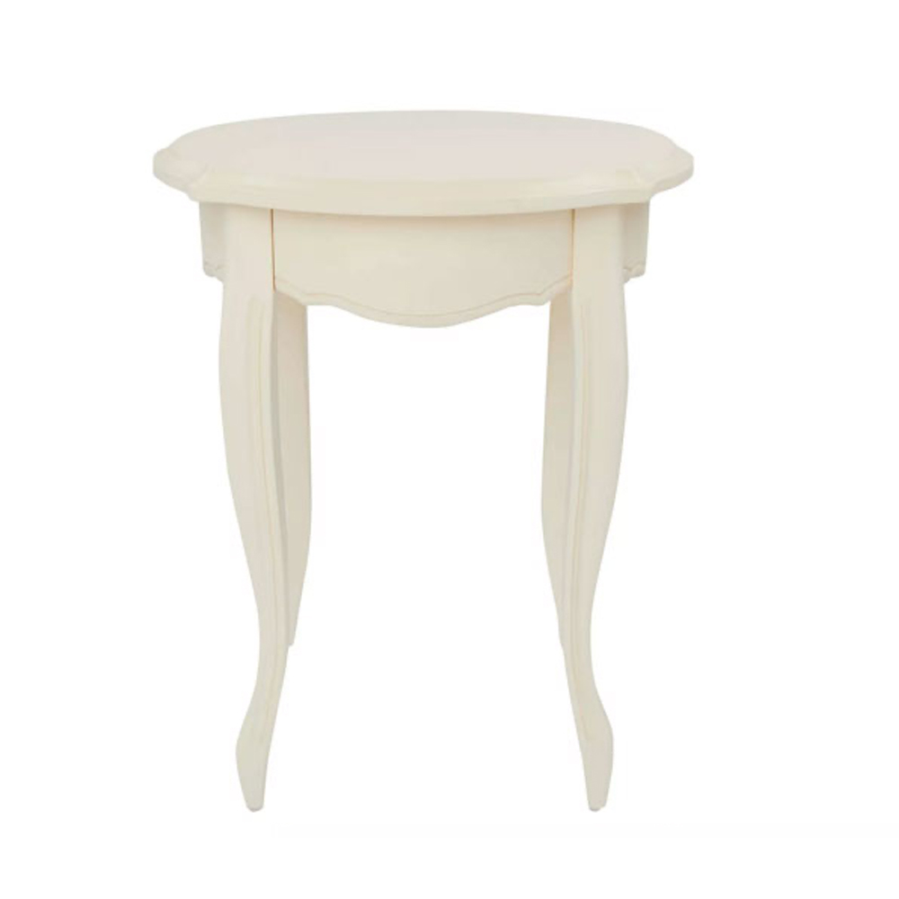 Provencale Round Side Table Ivory