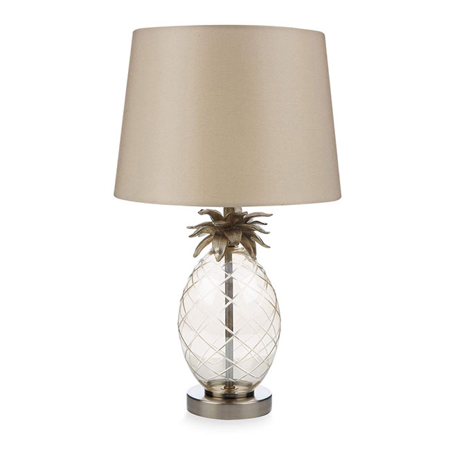 Pineapple Table Lamp Complete Champagne with