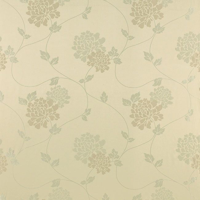 Isodore Floral Jacquard Curtain Fabric Linen