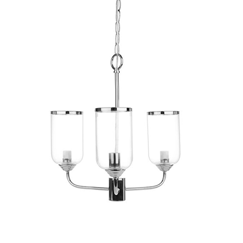Whitley 3 Arm Chandelier Chrome