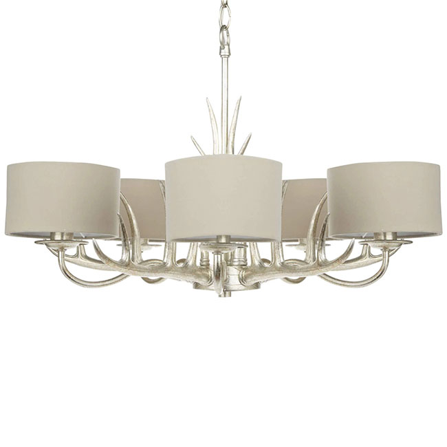 Mulroy 5 Arm Chandelier Champagne with shades