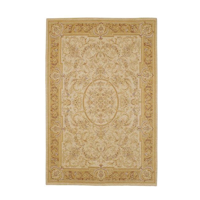Victoriana Traditional Rug Gold/Ivory 140x200