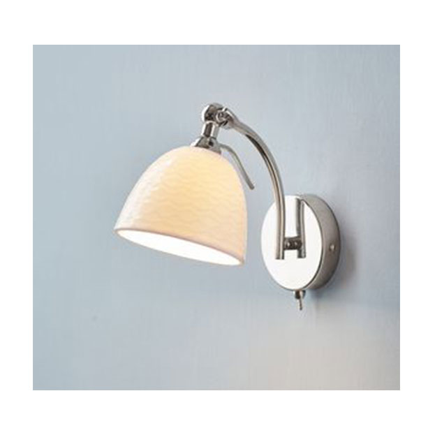 Henfield Wall Light Chrome with White Shade