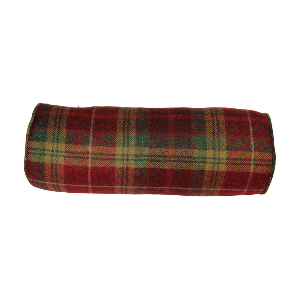 Mulholland Wool Bolster Cranberry - Feather Filled