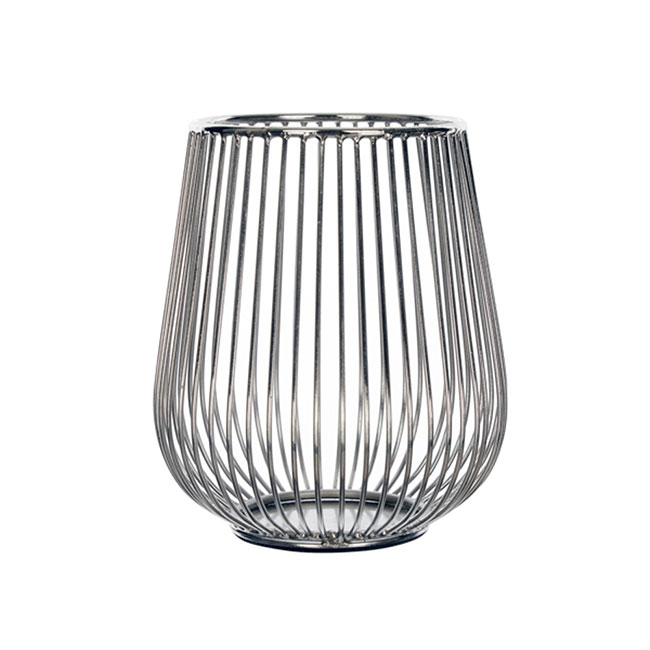 Editions Wire Candle Holder Silver
