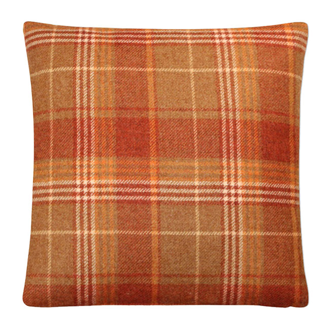 Cranbourne Wool Cushion Copper - Feather Filled