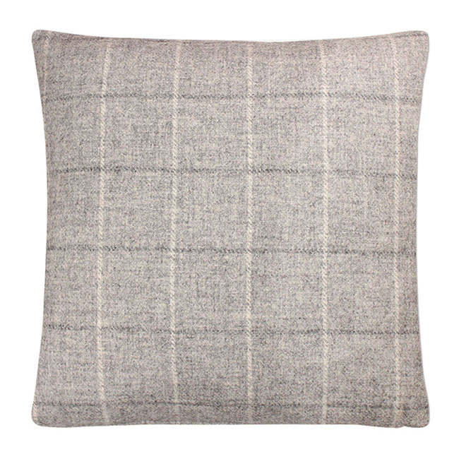 Denton Cushion Pale Steel - Feather Filled