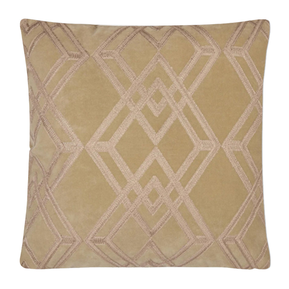 Maddison Embroidered Cushion Antique Gold