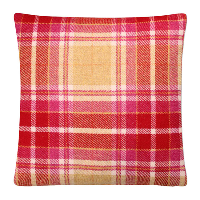 Mulholland Wool Cushion Grapefruit - Feather Filled