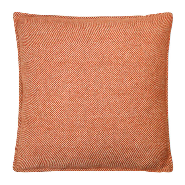 Romsey Wool Cushion Copper - Feather Filled