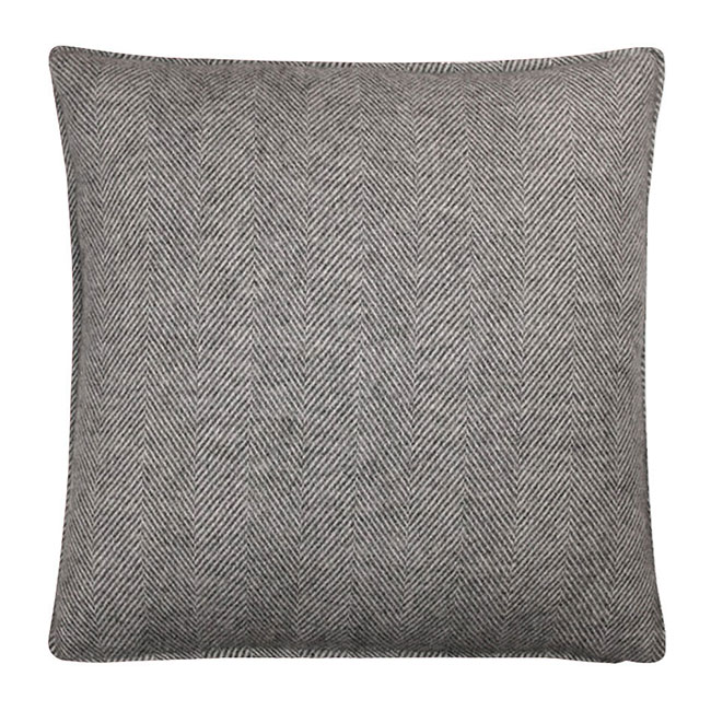 Romsey Wool Cushion Steel - Feather Filled