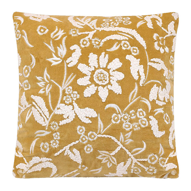 Petra Embroidered Velvet Cushion Orchid