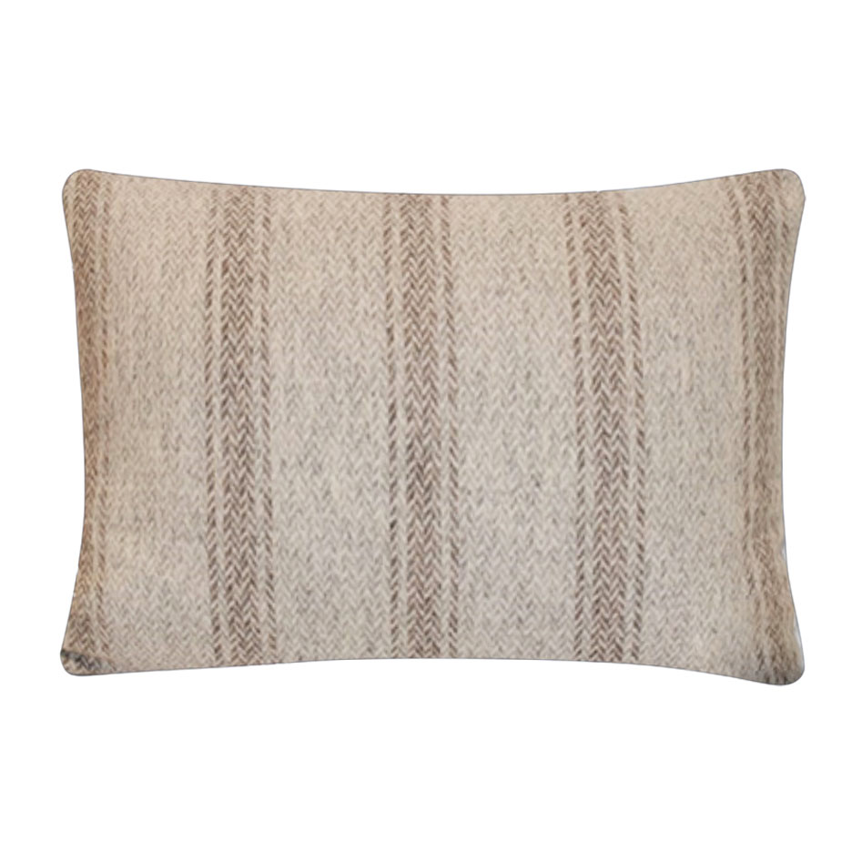 Rothesay Wool Cushion Steel - Feather Filled