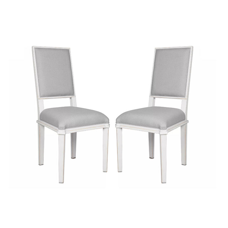 Henshaw Pair of Dining Chairs Pale Steel