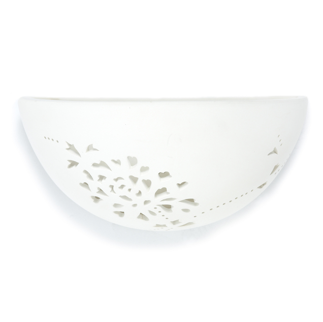 Isodore Wall Light Plaster Cut-Out Cream