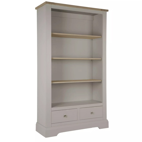Dorset 2 Drawer Bookcase Pale French Grey
