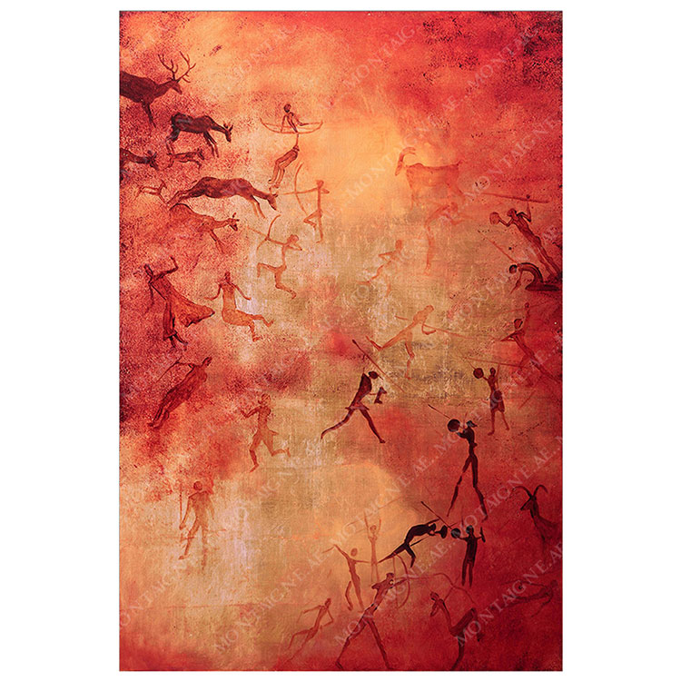 Copper Qabileh Abstract Painting