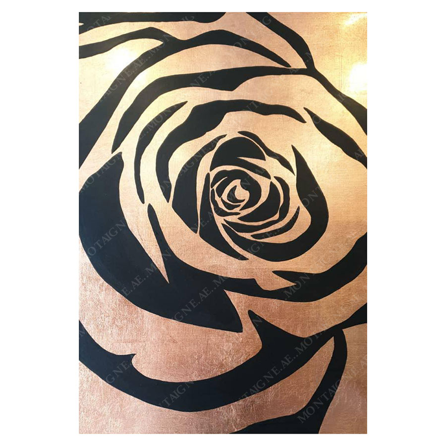 Copper Rose Painting