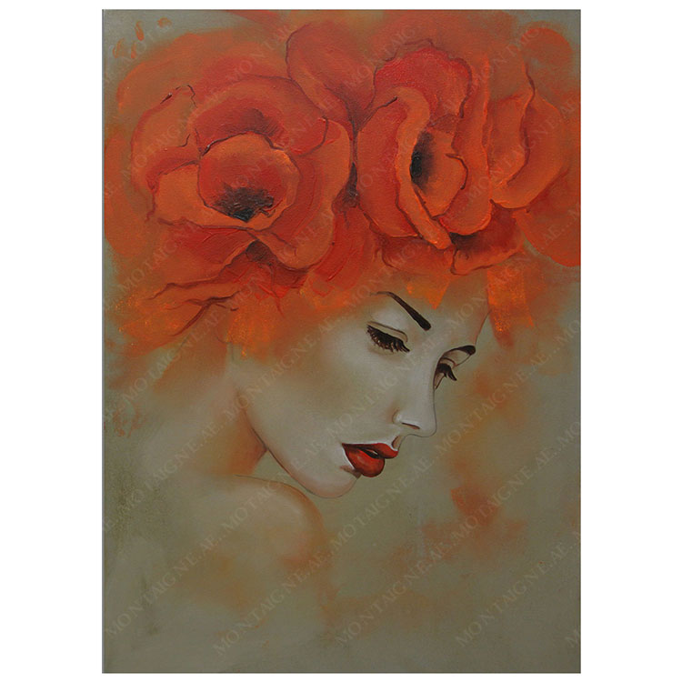 Valeria Woman Sketched Painting