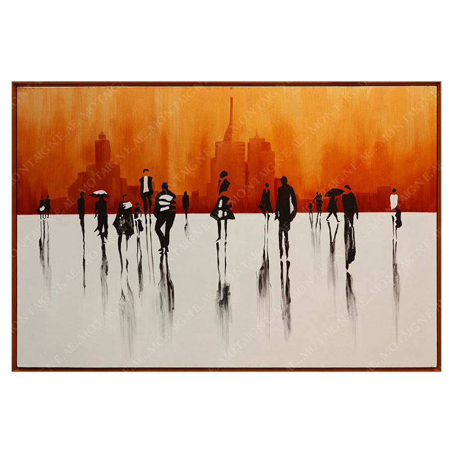 Sunset Times Abstract Painting