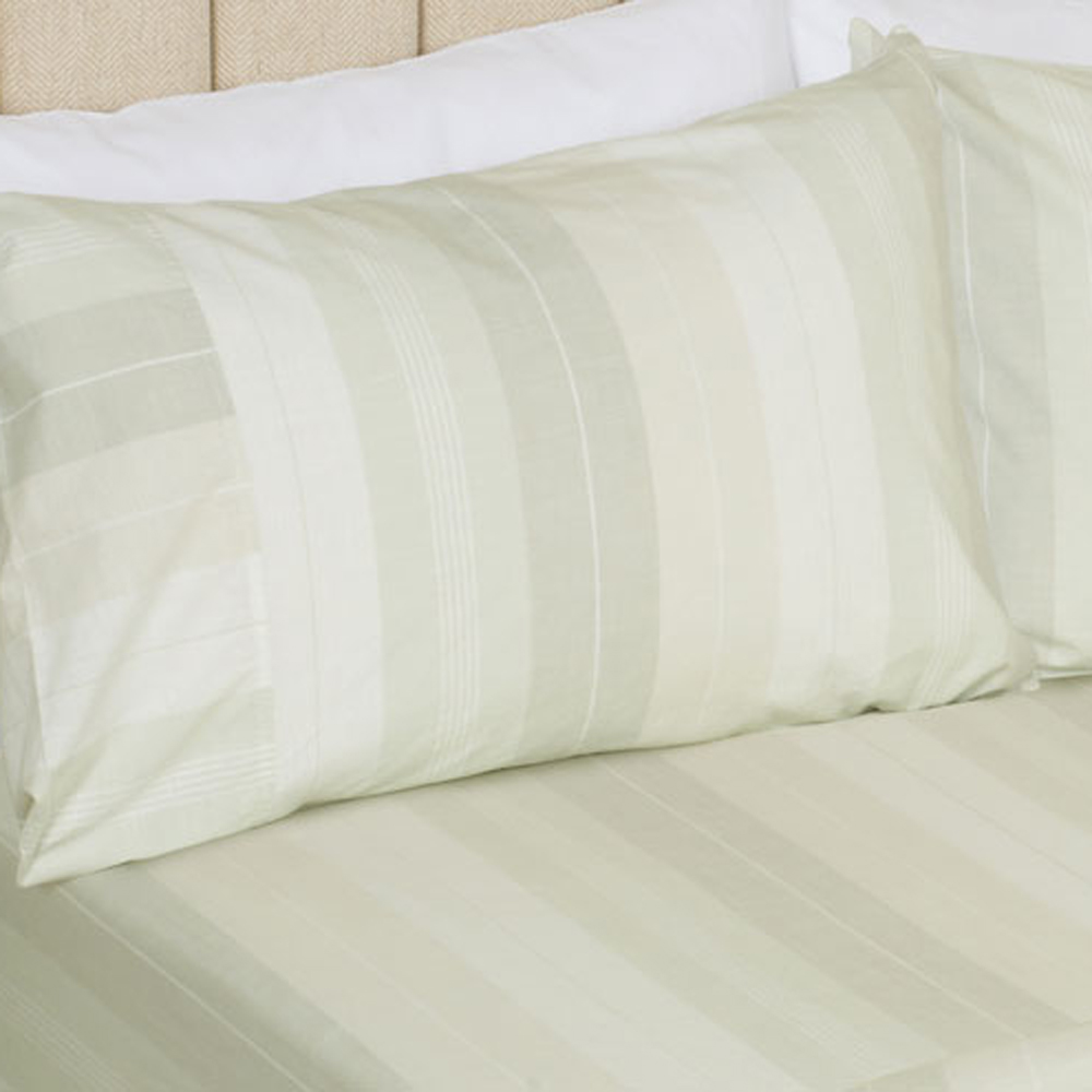 Sophie Stripe Fitted Sheet Hedgerow 150x200 + 32