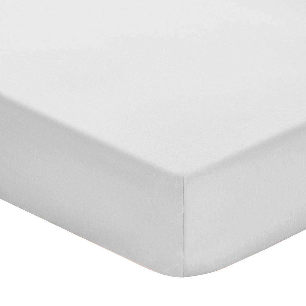 Fitted Sheet 200TC Dove Grey 150x200 + 25
