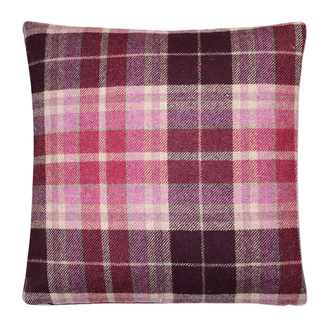Mulholland Wool Cushion Berry - Feather Filled