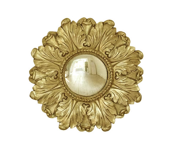Lila Floral Mirror Gold