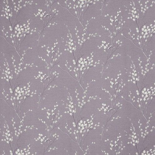 Pussy Willow Curtain Fabric Pale Iris