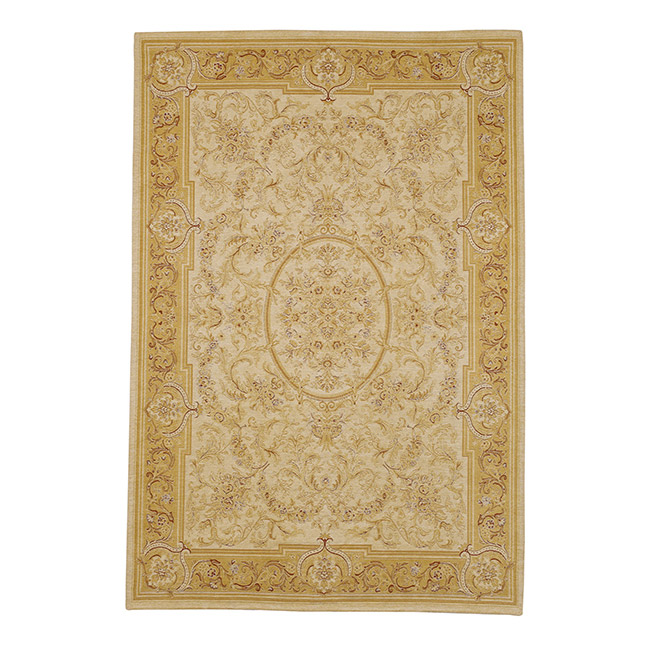 Victoriana Traditional Rug Gold/Ivory 200x280