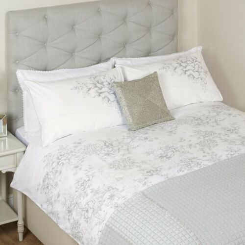 Colette Embroidery Housewife Pillowcase White
