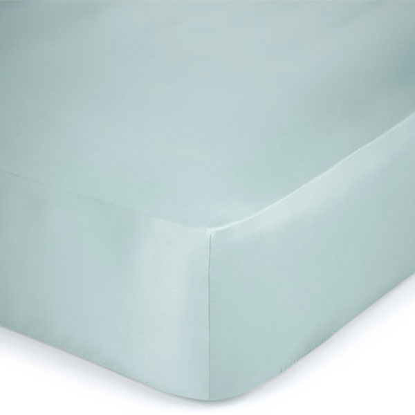 Fitted Sheet 400TC Duck Egg Satin 150x200