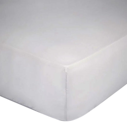 Fitted Sheet 400TC Silver Satin 150x200 + 25